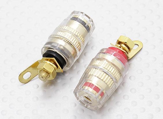 Hembra de 4 mm eléctricas Bornes de 12-24 V DC 50Amp