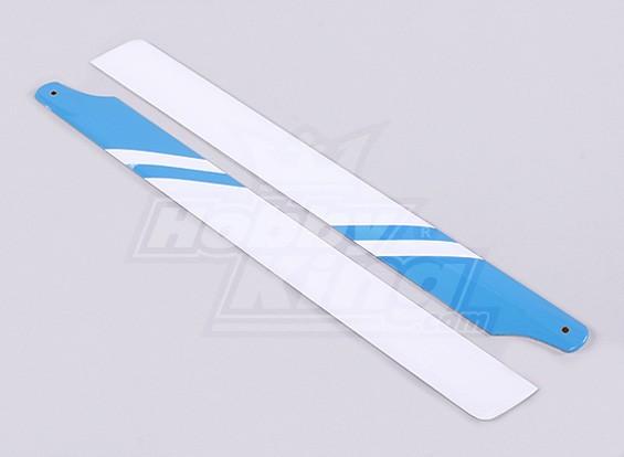 325 mm de fibra de vidrio láminas principales (azul / blanco)