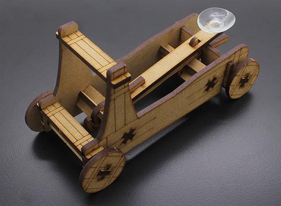 Catapulta cortado con láser Modelo de madera (KIT)
