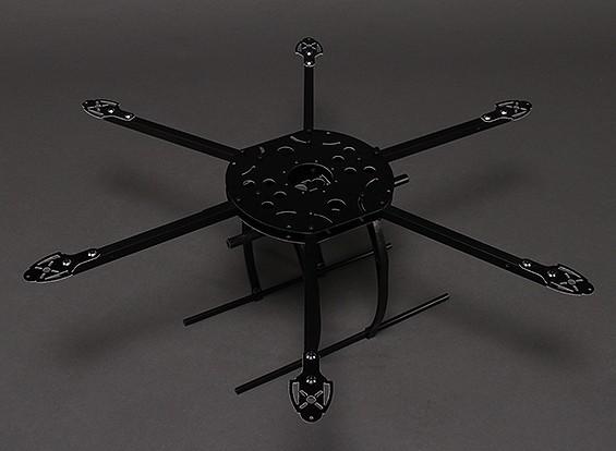 650 mm Marco Hobbyking SX650 fibra de vidrio Hexcopter