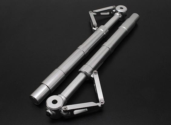 Turnigy 60 ~ 90 Aleación tamaño Sprung Oleo Strut sistemas de arrastre Enlace de 2 piezas (140 mm)