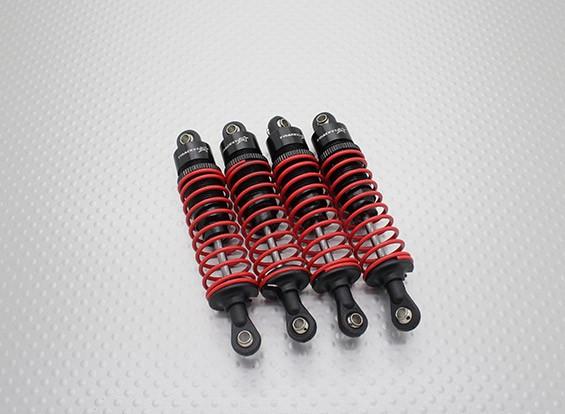 Trackstar Tamiya CC01 de aceite de aluminio Lleno de choque ajustable Amortiguador Conjunto (4PC)