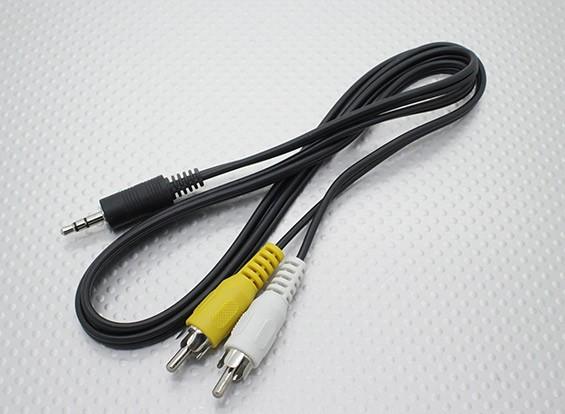 El plomo de 3,5 mm a Hombre Mono RCA A / V enchufes (100 mm)