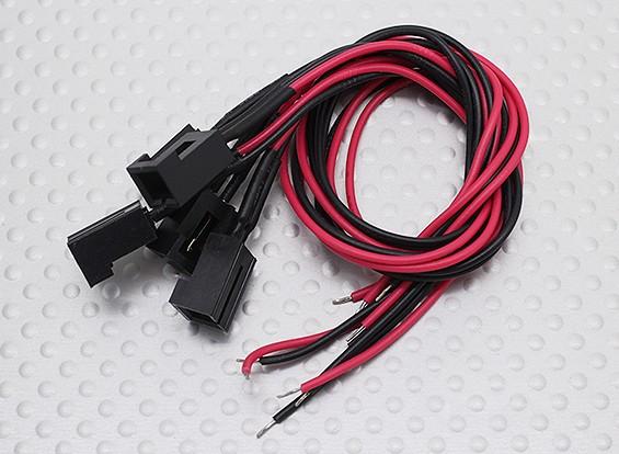Molex Pin 2 Cable conector hembra con 220 mm x 26 AWG alambre (5 piezas)