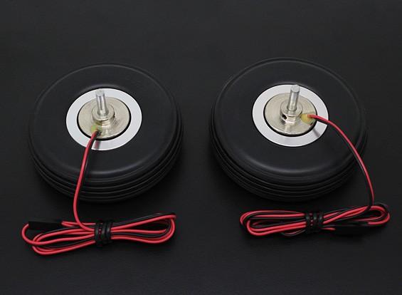 """Turnigy eléctrico 72mm Sistema de freno magnético (2,75 """") de la rueda (2 piezas)"""