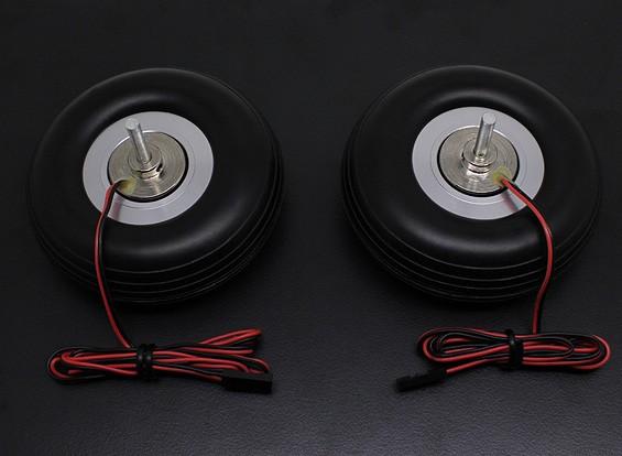 """Turnigy eléctrico 80mm Sistema de freno magnético (3.0 """") de la rueda (2 piezas)"""