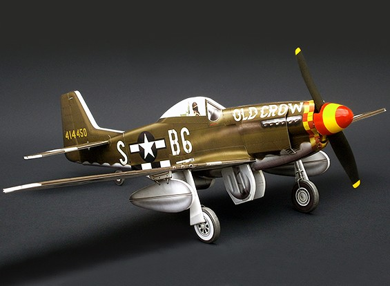 MicroAces P51 Kit D Mustang Old Crow Micro Avión Depron Estándar