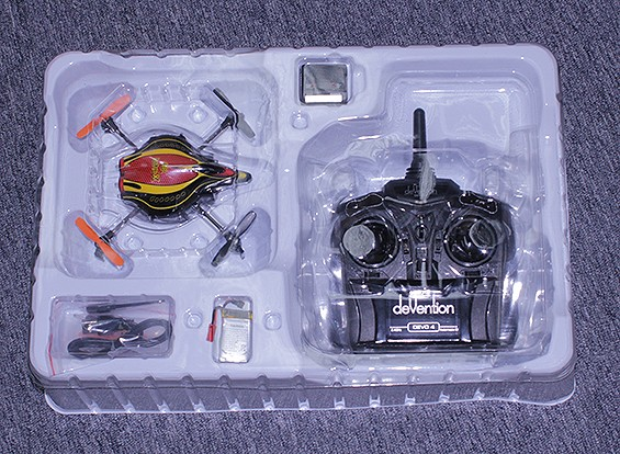SCRATCH / DENT Walkera QR Infra X Micro Quadcopter w / IR y mantenimiento de altitud (Modo 2) (RTF)