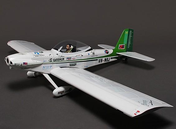Aviones RV-4 Escala Deporte Balsa de Van, Glow / 1600mm EP (ARF)