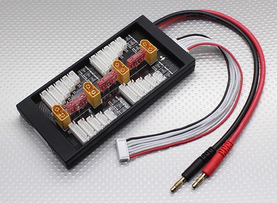 HobbyKing seguro 40A paralelo Junta de carga para 4 paquetes de 2 ~ 6S (XT60)