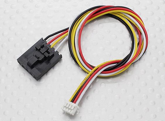 300 mm 5 Pin Molex / JR para 4 Cable Pin conector blanco