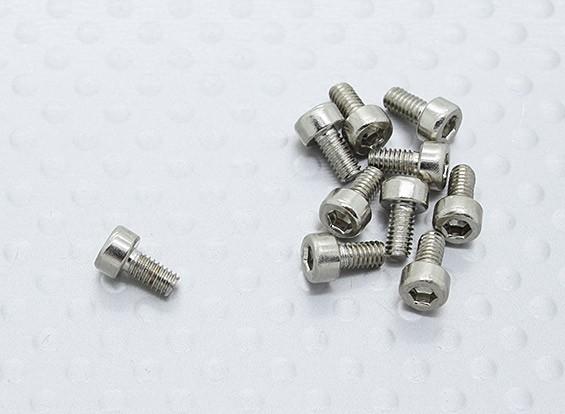Los tornillos M2.5 de 5 mm (10pc) para Turnigy 1/16 4WD Nitro Racing Buggy w / .07 mejorada del motor