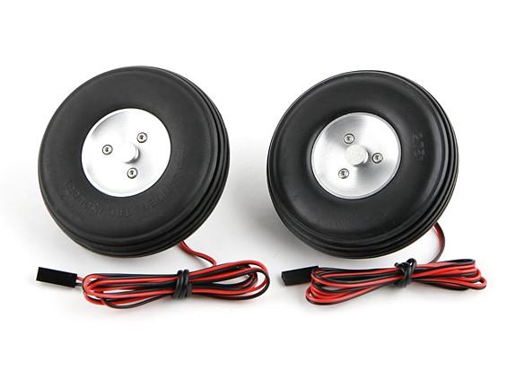 """Turnigy Freno Eléctrico Ruedas (Sin Controlador) 72mm magnética (2,9 """") de la rueda (2 piezas)"""