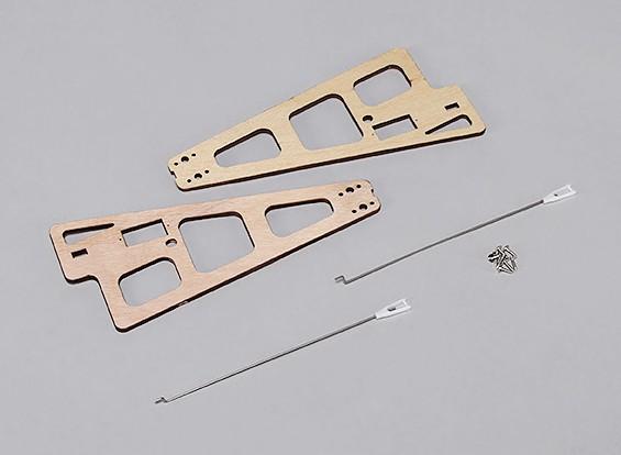 Durafly ™ Auto-G2 Girocóptero 821mm - Sustitución de soportes de madera w / Varillas de vinculación