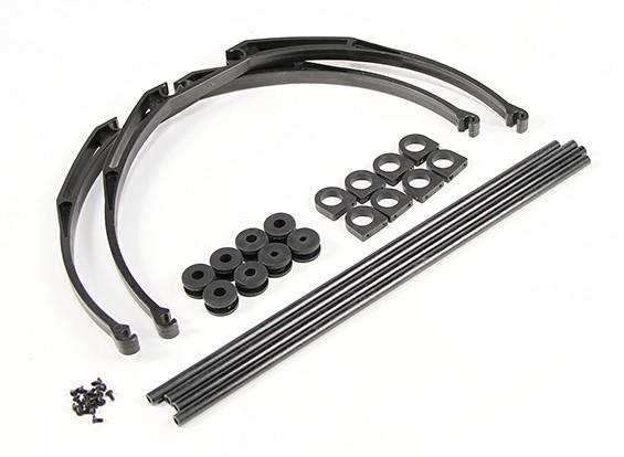 Resistente a los golpes Pata de cangrejo Deluxe Landing Gear Set (Negro)