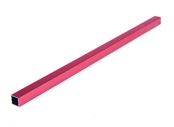 Aluminio Tubo cuadrado de bricolaje Multi-Rotor 12.8x12.8x340mm (.5Inch) (Rojo)