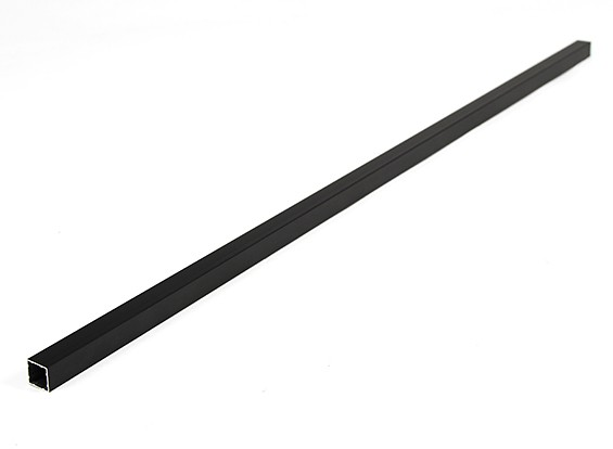 Aluminio Tubo cuadrado de bricolaje Multi-Rotor 12.8x12.8x600mm (.5Inch) (Negro)