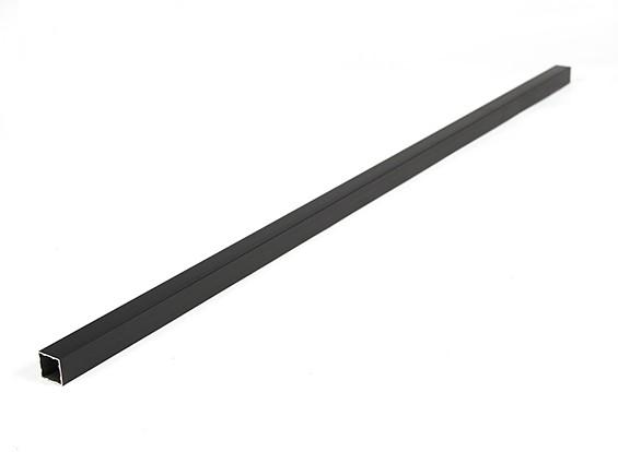 Aluminio Tubo cuadrado de bricolaje 15x15x600mm Multi-Rotor (negro)