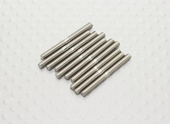 M2.5 de 25 mm de acero varilla de empuje (10pc)