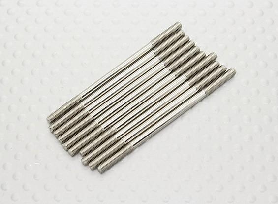 M2.5 de 50 mm de acero varilla de empuje (10pc)
