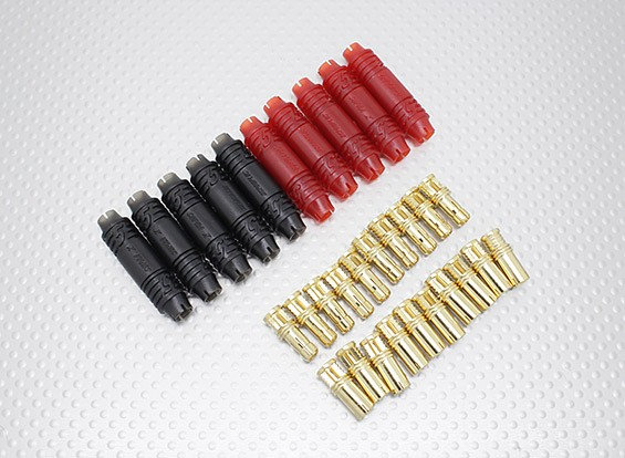 5mm RCPROPLUS Supra X bala de oro Conectores polarizados El batería (10 pares)