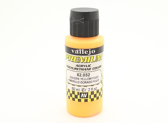 Vallejo Color Superior pintura acrílica - Golden Yellow Fluo (60 ml)