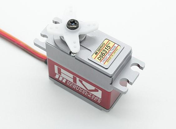 JR DS6315HV del esfuerzo de torsión de alta velocidad Servo digital con engranajes de metal y del disipador de calor 17.8kg / 0.07sec / 80g