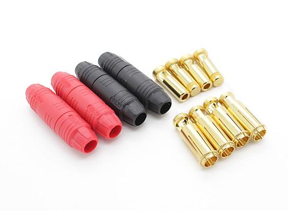 AS150 7mm anti chispa auto aislamiento de bala de oro Conector (2 pares)