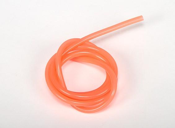 Heavy Duty Tubo de silicona naranja combustible (Nitro) (1 metro)