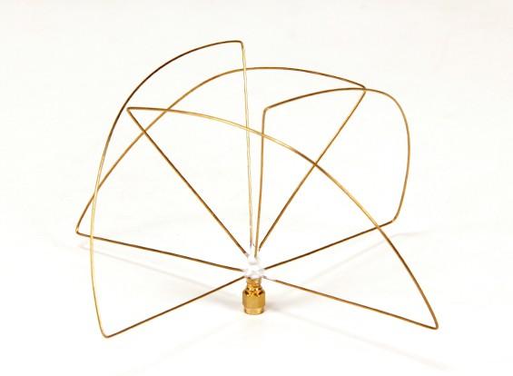 900Mhz circular polarizado antena receptora (RP-SMA) (LHCP) (corto)