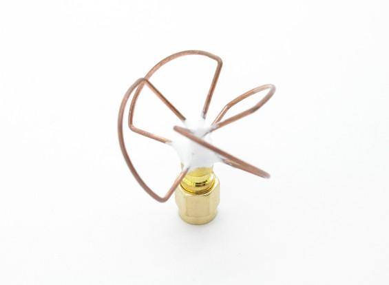 5.8GHz circular polarizado Antena SMA Receptor solamente (corto)