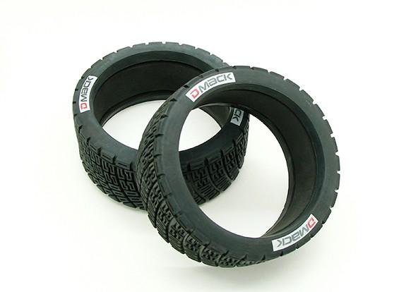 Los neumáticos con la esponja (2pcs) - BSR Racing 1/8 Rally