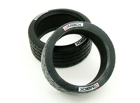 Neumáticos patrón de líneas con la esponja (2pcs) - BSR Racing 1/8 Rally