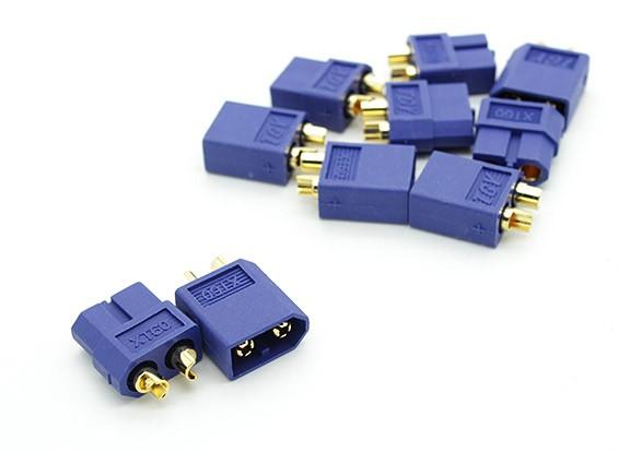 Nylon azul conectores XT60 Hombre / Mujer (5 pares) GENUINO