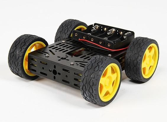 DG012-BV (versión básica) 4WD Multi Kit chasis con cuatro ruedas de caucho