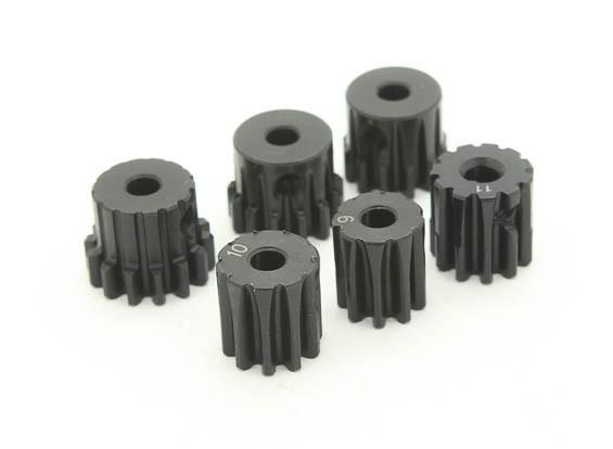 Acero endurecido engranaje de piñón Conjunto 32P para ajustar a 3,175 mm del eje (9/10/11/12/13 / 14T)