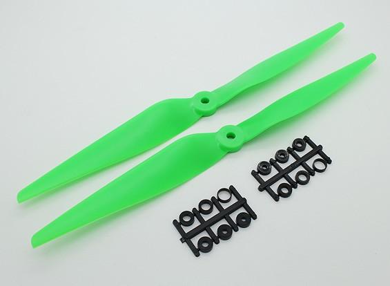 Hobbyking ™ hélice 11x5 Verde (CCW) (2pcs)