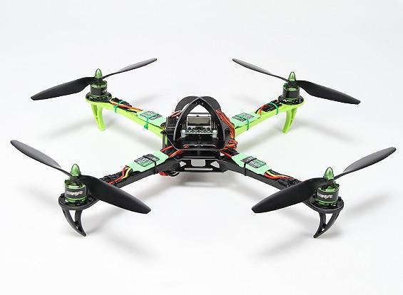 Turnigy SK450 Quad Copter accionada por el Multistar. Quadcopter y 5X Paquete (Modo 2) (listo para volar)