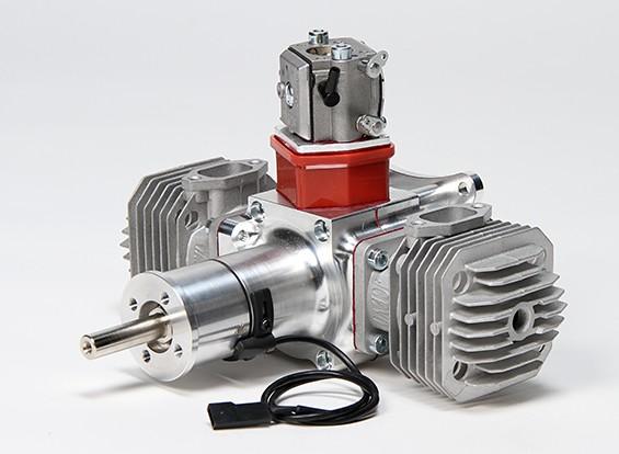 JC60 Gas gemelo del motor w / CD-ignición de 60 cc / 6 CV @ 7400rpm
