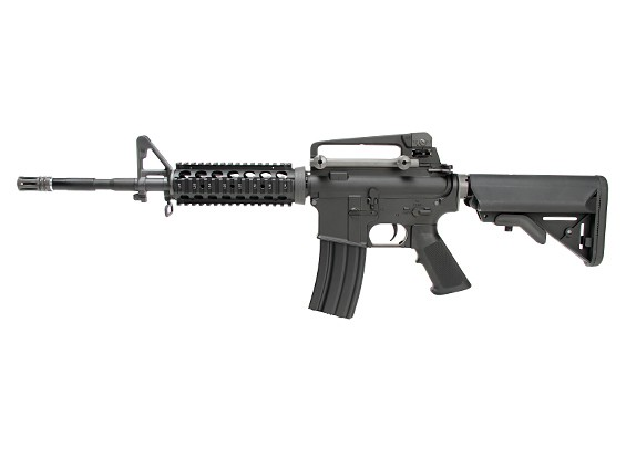 WE KATANA M4 RIS AEG (Negro, Azul M90 cilindro)