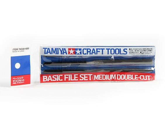 Tamiya Juego básico de archivos - Soporte Doble-Cut (3 piezas)