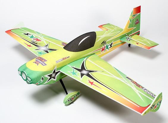 HobbyKing® ™ MXS PPE / Luz madera contrachapada 3D Avión Acrobático 1220 mm (ARF)