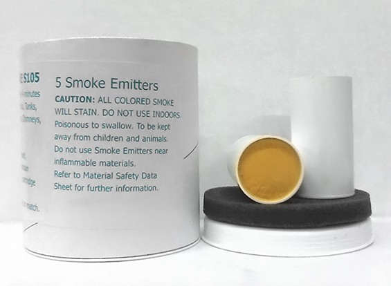 Cartuchos 4 Minuto de humo amarillo (5pcs)