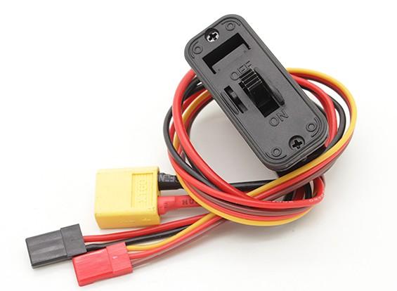 Pesado del cableado del interruptor con XT60 Cable de entrada, construido en el zócalo de carga y DSC plomo