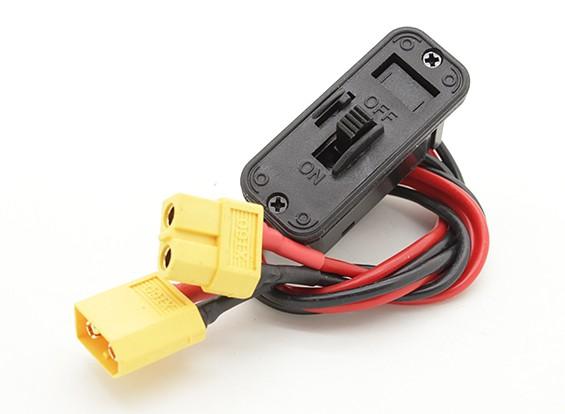 Del cableado del interruptor de servicio pesado con XT60 conector macho / hembra y construido en el zócalo de carga