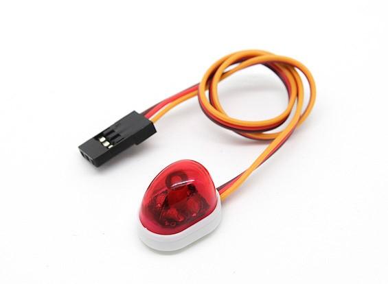 Coche de policía de un solo estilo de luz LED (rojo)