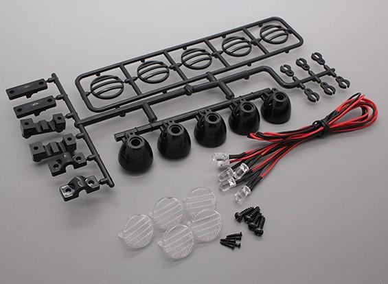 Barra de luz LED Hobbyking Set (Negro)