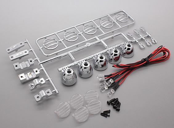 Hobbyking LED Light Bar Set (Chrome Efecto)