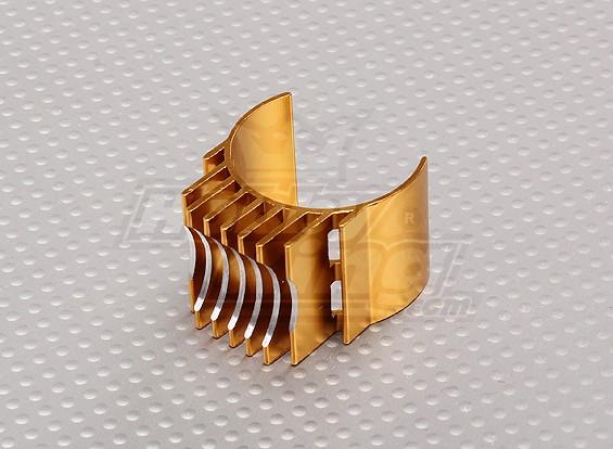 El oro de aluminio del disipador de calor del motor 540/550/560 (36 mm)