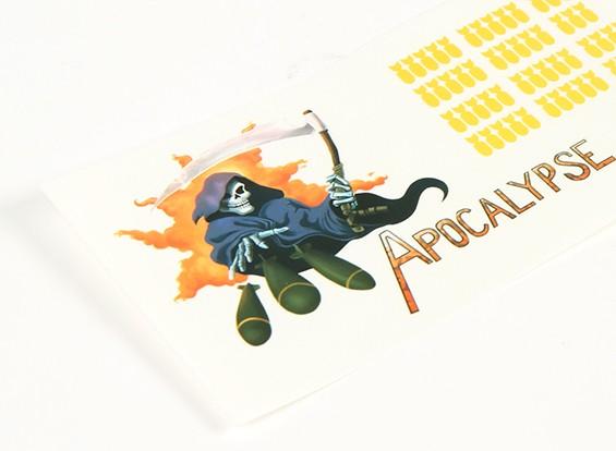 Arte de la nariz - Apocalypse 250 x 85 mm auto-adhesivo de la etiqueta Conjunto